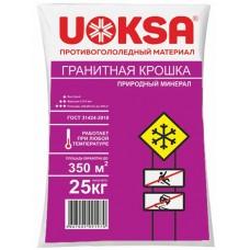 Противогололедный материал Uoksa (Уокса) Гранитная крошка, фракция 2-5 мм, 25 кг