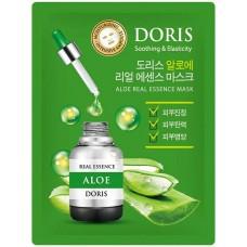 Тканевая маска для лица Doris (Дорис) Aloe Real Essence с Алоэ, 25 мл