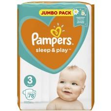 Подгузники Pampers (Памперс) Sleep&Play Midi 3 (6-10 кг), 78 шт