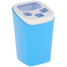 Подставка пластиковая для зубных щеток Breeze, цвет голубая лагуна, 8х8х12,5 см