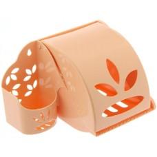 Держатель пластиковый для туалетной бумаги и освежителя воздуха, цвета, 12x20x12 см