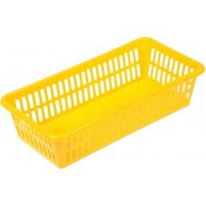 Корзина пластиковая для хранения, цвет микс, 20х10х4,8 см