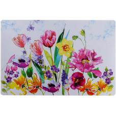 Салфетка кухонная под приборы «Цветы акварель», 42х27 см