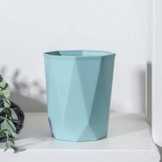 Стакан пластиковый для зубных щеток Idea «Призма», цвет морской волны, 9,5х9,5х11 см
