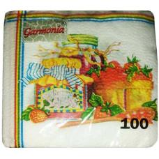 Салфетки бумажные Гармония «Варенье», 100 шт