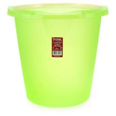 Ведро пластиковое мерное, без крышки, цвет зеленый, d29 см, h28 см, 10 л