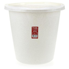 Ведро пластиковое мерное, без крышки, цвет мрамор, d29 см, h28 см, 10 л