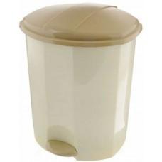 Ведро для мусора пластиковое, с педалью, цвет слоновая кость, 27х26х32 см, 11 л