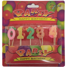 Свечи для торта Цифры 0-9