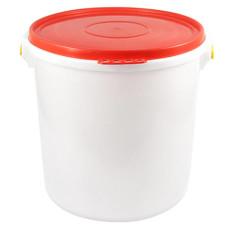 Бак пищевой герметичный, с крышкой, с ручкой, подходит для соления, меда, воды, д43 см, h42 см, 45л