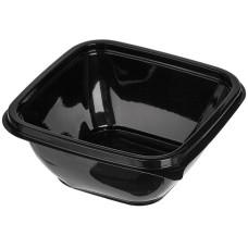 Контейнер пластиковый одноразовый СТ, 126х126х51 мм, цвет черный, 375 мл