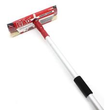 Окномойка поворотная, телескопическая ручка, 130х25 см