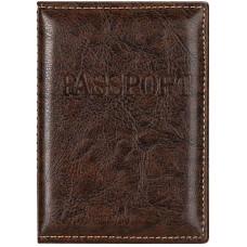 Обложка для паспорта, загран, прошитый, цвет коричневый, 9,5х0,5х13,5 см
