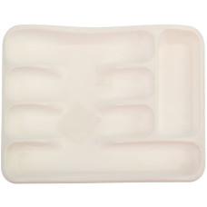 Лоток пластиковый для столовых приборов, цвет белый, 32х26х5 см