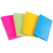 Визитница, 60 карт, 3 карты на 1 листе, обложка пластик, цвет микс