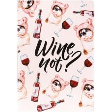 Обложка для паспорта ПВХ «Wine not?»