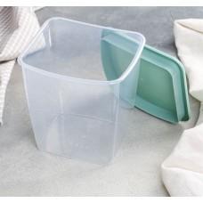 Ёмкость для сыпучих продуктов квадратная, цвет фисташковый, 1 л