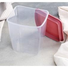 Ёмкость для сыпучих продуктов квадратная, цвет ягодный, 1 л