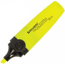 Текстовыделитель Brauberg (Брауберг) Delta, цвет жёлтый, линия 1-5 мм