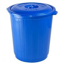 Бак пластиковый для мусора с крышкой, цвет белый, h48 см, d46 см, 50 л