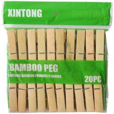 Прищепка бамбуковая «Бамбо», 20 шт