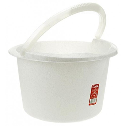 Ведро пластиковое мерное, без крышки, цвет мрамор, д29 см, h18 см, 7 л