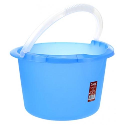 Ведро пластиковое мерное, без крышки, цвет синий, д29 см, h18 см, 7 л