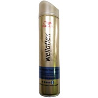 Лак для волос Wellaflex (Веллафлекс) Объем и Восстановление №5 - Суперсильная фиксация, 250 мл