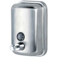 Диспенсер для жидкого мыла Ksitex, наливной, нержавеющая сталь, матовый, 1 л