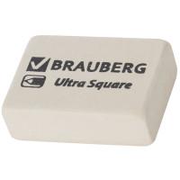 Резинка стирательная Brauberg (Брауберг) Ultra Square, натуральный каучук, цвет белый, 26х18х8 мм