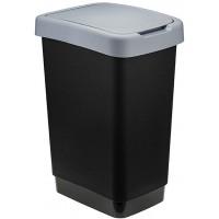Ведро для мусора с плавающей крышкой пластиковое Твин, цвет серый, 26х33х47 см, 25 л