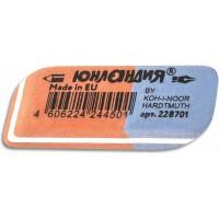 Резинка стирательная прямоугольная Юнландия Koh-i-Noor Hardtmuth Exclusive, цвет красно-синий, 42х14х18 мм