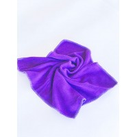 Салфетка из микрофибры (без упаковки), цвет фиолетовый, 35х35 см