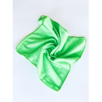 Салфетка из микрофибры (без упаковки), цвет зелёный, 35х35 см