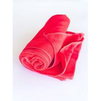 Салфетка из микрофибры (без упаковки), цвет красный, 80х100 см