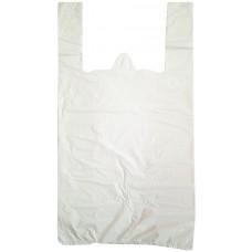 Пакет-майка ПНД, цвет белый, 30х56 см