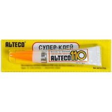 Супер-клей Alteco 110, тюбик, 3 г