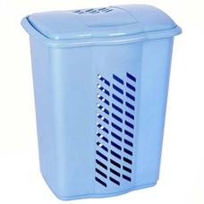 Корзина пластиковая для белья Гигант, цвет голубой, 47х37х58 см, 60 л