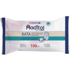 Вата гигроскопическая Maditol pharma, хлопко-льняная, в рулоне, 100 г