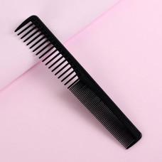 Расческа комбинированная скошенная, цвет чёрный, 17,7х3 см