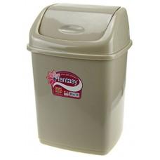 Ведро для мусора пластиковое с плавающей крышкой Фантазия, цвет песочный, 18х15х26 см, 5 л