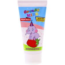Детская зубная паста Grendy (Гренди) Клубника со сливками, 75 мл