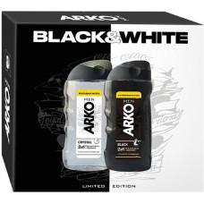 Подарочный набор для мужчин Arko (Арко): гель для душа Black 260 мл + гель для душа Crystal 260 мл