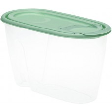 Банка для сыпучих продуктов М-Пластика Idea, цвет фисташковый, 9х11х19,5 см, 0,9 л