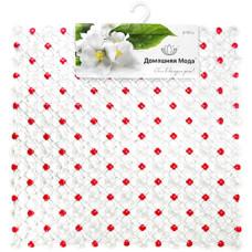 Коврик в ванную квадратный Сеточка-диагональ, с присосками, прозрачный, цвет микс, 51х51 см