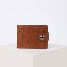 Портмоне мужское Дейв, 2 отдела, для купюр, для карт, на клапане, цвет светло-коричневый, 11,5х2х8,7 см