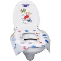 Накладки одноразовые для унитаза детские Toly Kids