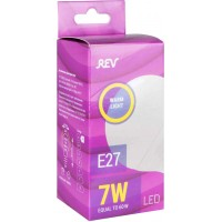 Лампа светодиодная LED, 7 Вт, цоколь Е27, шариковая, матовая, теплый свет, 2700К, 525Лм, Rev