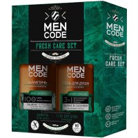Подарочный набор для мужчин Men Code Fresh Care Set: гель для душа 300 мл + шампунь для волос укрепляющий 300 мл