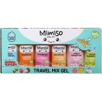 Подарочный набор Mimiso Travel Mix Gel: гели для душа 6 видов по 50 мл